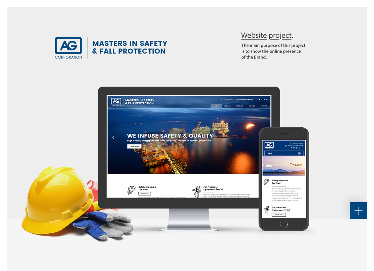 Ag Corporation Website Design